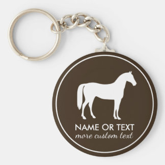 Personalized Equestrian Horseback Riding Name Key Ring
