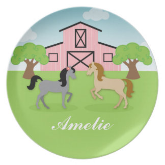 Personalized Equestrian Horses Plate