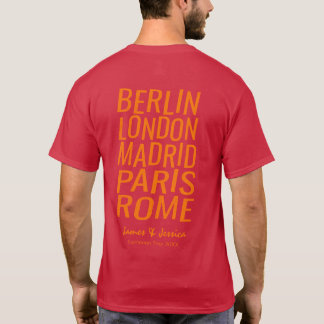 Personalized European Tour Great Cities T-Shirt