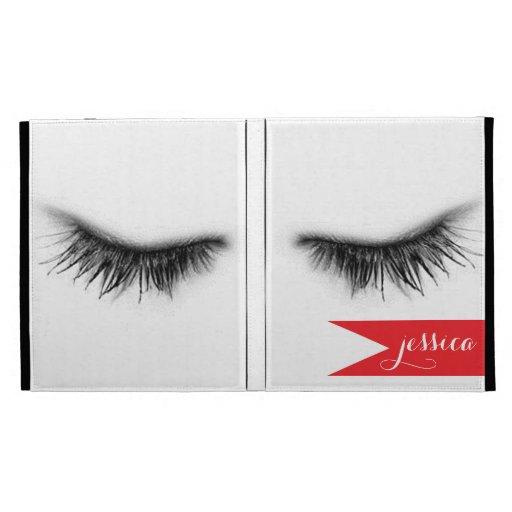 Personalized Eyelashes Design iPad Folio Cover