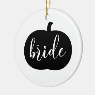 Personalized Fall Bride Ornament with Photo