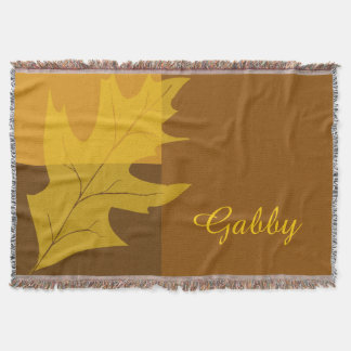 Personalized Fall Color Block Throw