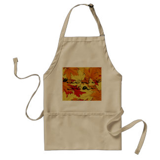 Personalized Fall Leaves Apron