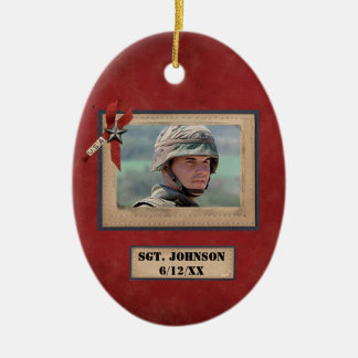personalized fallen soldier military ornament