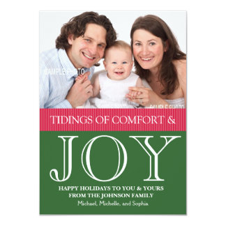 Personalized Family Christmas Photo and Letter 11 Cm X 16 Cm Invitation Card