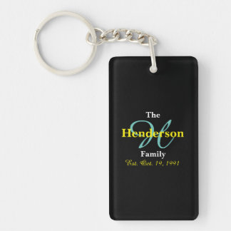 Personalized Family Established - Name & Initial - Key Ring