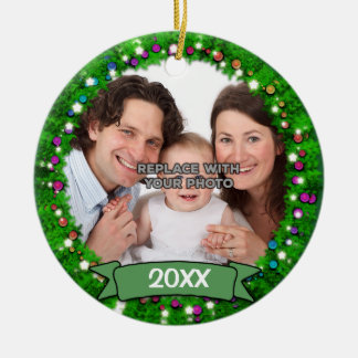 Personalized Family Holiday Photo Ornament