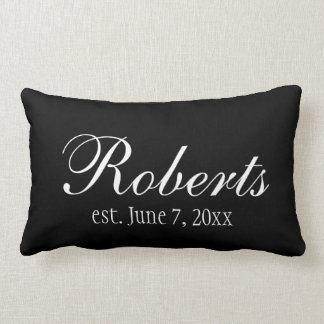 Personalized Family Name Black Toss Pillow Cushions