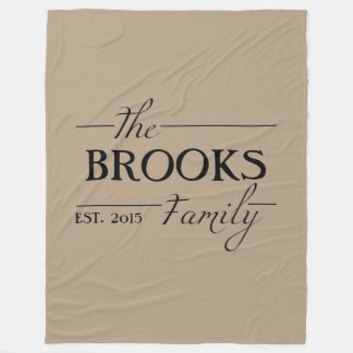 Personalized Family Name Throw Blanket Gift