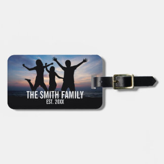 Personalized Family Photo with Family Name Luggage Tag