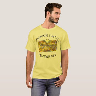 Personalized Family Reunion Cookout Corn Cob BBQ T-Shirt