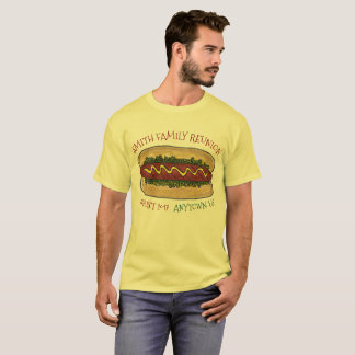 Personalized Family Reunion Cookout Picnic Hot Dog T-Shirt