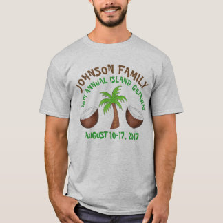Personalized Family Vacation Palm Tree Island Trip T-Shirt