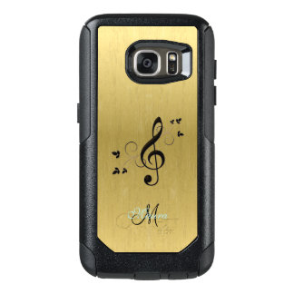 Personalized Fancy Music Clef on Gold Galaxy S7 Ca OtterBox Samsung Galaxy S7 Case