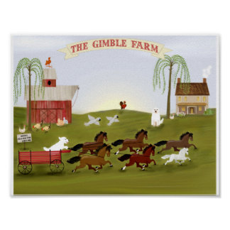 Personalized Farm and Pets The Gimble Farm Poster
