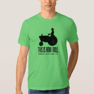 Personalized Farm Tractor This is How I ROLL Tshirt