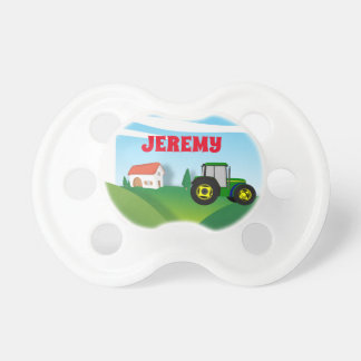 Personalized Farm with Green Tractor Dummy