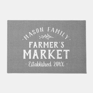 Personalized Farmer's Market Doormat