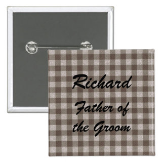 Personalized Father of the Bride or Groom Buttons