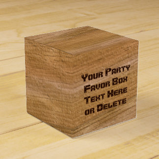 Personalized Faux Wooden Favor Boxes, Your Text Favour Box
