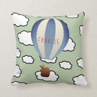 Personalized Fawn in Balloon Throw Pillow