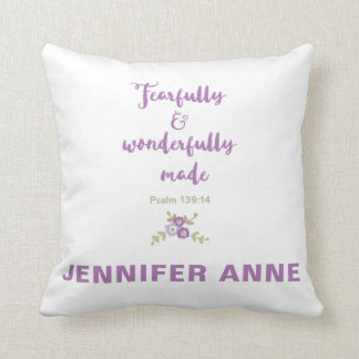 Personalized Fearfully and Wonderfully Made Pillow