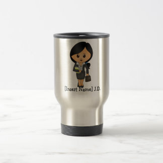 Personalized Female Lawyer - Black hair Travel Mug