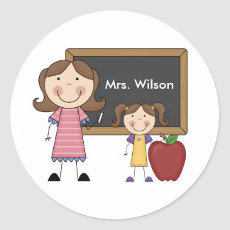 Personalized Female Teacher Stickers