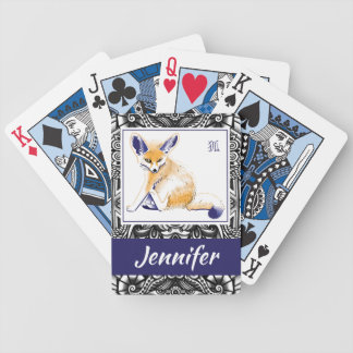 """Personalized """"Fennec Fox"""" Playing Cards"""