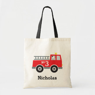 Personalized Fire Truck Halloween Treat Bag