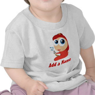 Personalized Firefighter Baby T-shirt