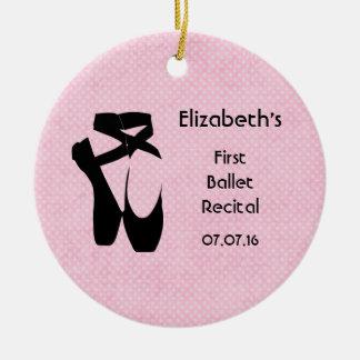 Personalized First Ballet Recital Keepsake Ceramic Ornament