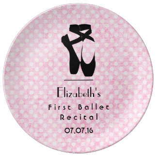 Personalized First Ballet Recital Keepsake Plate