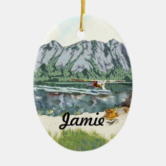 Personalized First Fishing Trip Ceramic Ornament