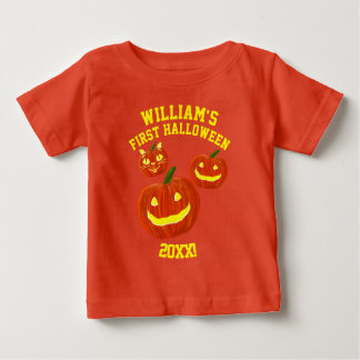 Personalized First Halloween Baby T-Shirt