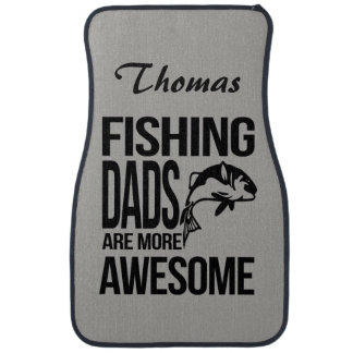Personalized Fishing Dads are More Awesome Car Mat