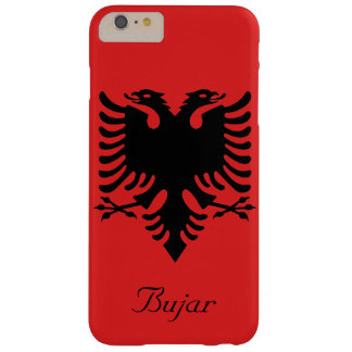 Personalized Flag of Albania Double-Headed Eagle Barely There iPhone 6 Plus Case