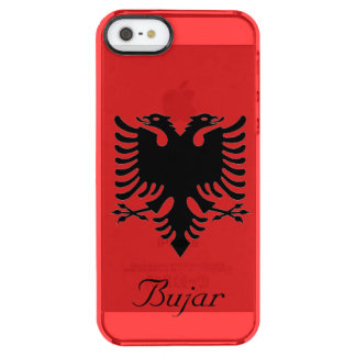 Personalized Flag of Albania Double-Headed Eagle Clear iPhone SE/5/5s Case