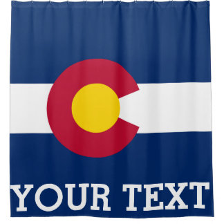 Personalized Flag of Colorado Shower Curtain