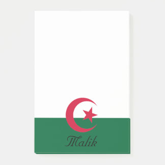 Personalized Flag of Star and Crescent Moon Post-it Notes