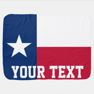 Personalized Flag of Texas Baby Blanket