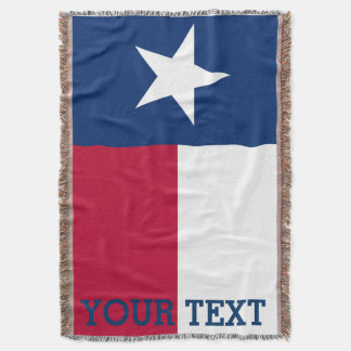 Personalized Flag of Texas Throw Blanket