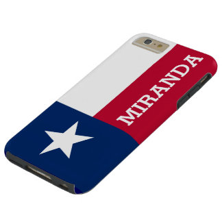 Personalized Flag of Texas Tough iPhone 6 Plus Case