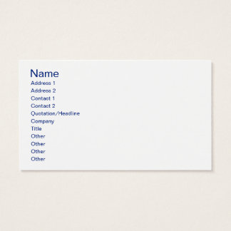 Personalized Flag of the United Kingdom Business Card
