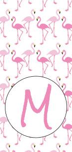 Flamingo Monogram Iphone 8 7 Cases Covers Zazzle Com Au