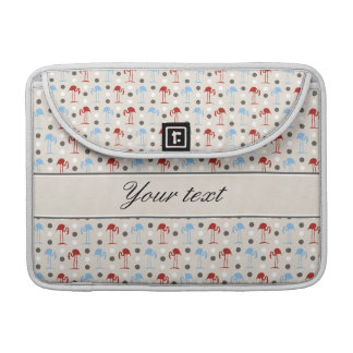 Personalized Flamingos and Polka Dots Pattern Sleeve For MacBooks