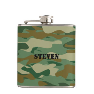 Personalized flask | Camouflage pattern design