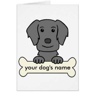 Personalized Flat-Coated Retriever Greeting Card