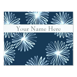 Personalized Flat Note Cards - Japanese Brush 11 Cm X 14 Cm Invitation Card
