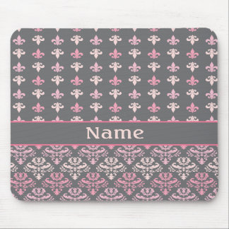 Personalized Fleur de Lis Damask Mousepad